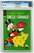Bronze Age (1970-1979):Cartoon Character, Uncle Scrooge #107 File Copy (Gold Key, 1973) CGC VF+ 8.5 Off-whiteto white pages. Highest grade yet assigned by CGC for th...
