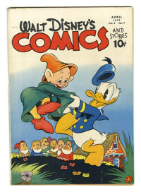Walt Disney's Comics and Stories #43 (Dell, 1944) Condition: VG+. The Seven Dwarfs appear with Donald Duck on the cover...