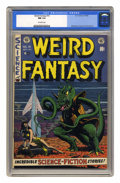 Golden Age (1938-1955):Science Fiction, Weird Fantasy #15 (EC, 1952) CGC NM 9.4 Off-white pages. Findinghigh-grade copies of these fantastic EC comics -- aside fro...