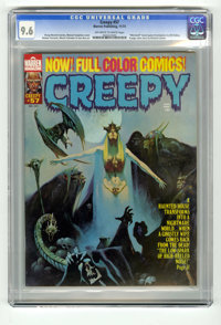 Creepy #57 (Warren, 1973) CGC NM+ 9.6 Off-white to white pages. Manuel Sanjulian cover. Richard Corben art (in color). T...