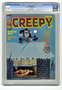 Creepy #59 (Warren, 1974) CGC NM 9.4 Off-white pages. Special Christmas (horror) issue. Contains an eight page color sto...