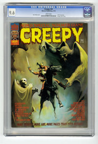 Creepy #65 (Warren, 1974) CGC NM+ 9.6 White pages. 1974 Yearbook. Contains an eight page slick comic insert. Ken Kelly c...