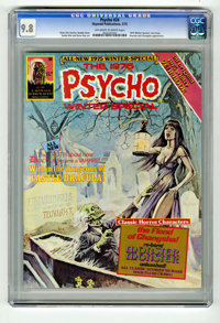 Psycho #24 (Skywald, 1975) CGC NM/MT 9.8 Off-white to white pages. 1975 Winter Special. Dracula appearance. Boada cover...