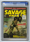 Magazines:Superhero, Savage Tales #1 (Marvel, 1971) CGC VF+ 8.5 Off-white to whitepages. Origin and first appearance of Man-Thing (Gray Morrow a...