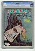Magazines:Horror, Scream #4 (Skywald, 1974) CGC NM+ 9.6 White pages. First appearance of Cannibal Werewolf. Edgar Allan Poe adaptation. Highes...
