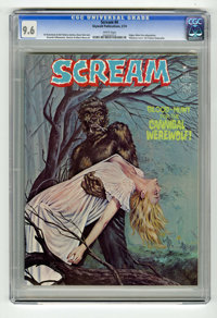 Scream #4 (Skywald, 1974) CGC NM+ 9.6 White pages. First appearance of Cannibal Werewolf. Edgar Allan Poe adaptation. Hi...