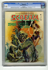 Scream #5 (Skywald, 1974) CGC NM/MT 9.8 White pages. Edgar Allan Poe and Oscar Wilde story adaptations. Far and away the...