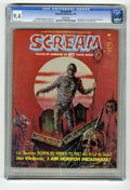 Magazines:Horror, Scream #9 (Skywald, 1974) CGC NM 9.4 White pages. Decapitation cover. Pablo Marcos centerfold feature. Highest grade yet ass...