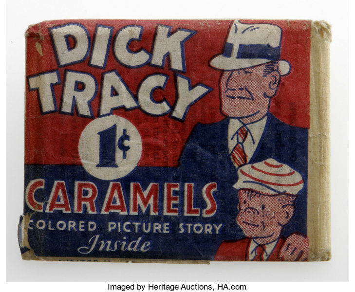 Dick Tracy Caramels in Original Wrapper (Walter Johnson