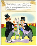 "Original Comic Art:Sketches, Elizabeth Beecher - Bugs Bunny at the County Fair, page 26 Original Art (Western, 1954). For riding ""the toughest bucking br..."