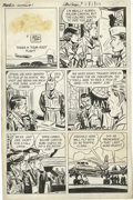 "Original Comic Art:Complete Story, Milton Caniff Studio - Steve Canyon #7 Complete Unpublished 6-page Story ""Steve Canyon Takes a 'Four-Foot' Flight"" (Harvey, ci... (Total: 7 Items)"