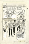 Original Comic Art:Covers, Dan DeCarlo - Archie's T.V. Laugh-Out #100 Cover Original Art(Archie, 1985). The Archies take their fashion cues from the P...(Total: 2 Items)