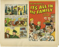 Original Comic Art:Miscellaneous, Harvey Artist - It's All in the Family Press Proof, Group of 2(Harvey, 1945). Here are two file copy press proofs from Harv...(Total: 2 Items)