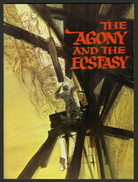 The Agony and the Ecstasy (20th Century Fox, 1965). Program (Multiple Pages). The war of wills between Michaelangelo and...