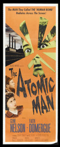 """Movie Posters:Science Fiction, The Atomic Man (Allied Artists, 1956). Insert (14"""" X 36""""). KenHughes directs this intriguing sci-fi about a scientist who i..."""