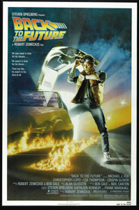 "Back to the Future (Universal, 1985). One Sheet (27"" X 41""). ""Roads? Where we're going we don't need road..."