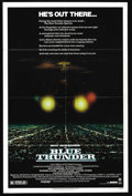 "Movie Posters:Action, Blue Thunder (Columbia, 1983). One Sheet (27"" X 41""). ""This sucker will do everything but cook your breakfast!"" The Blue Thu..."