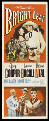 """Bright Leaf (Warner Brothers, 1950). Insert (14"""" X 36""""). Gary Cooper and Lauren Bacall star in this historical..."""