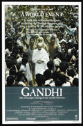 "Movie Posters:Academy Award Winner, Gandhi (Columbia, 1982). One Sheet (27"" X 41""). RichardAttenborough comes just short of documenting the entire life ofIndi..."