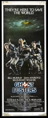 "Ghostbusters (Columbia, 1984). Insert (14"" X 36""). The Stay Puft Marshmallow Man will never be the same! Dan A..."