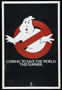 "Ghostbusters (Columbia, 1984). One Sheet (27"" X 41""). Advance. ""Who ya gonna call?""...Oh, you know w..."