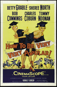 """How to Be Very, Very Popular (20th Century Fox, 1955). One Sheet (27"""" X 41""""). Betty Grable, Sheree North, Robe..."""