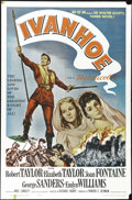 "Movie Posters:Adventure, Ivanhoe (MGM, R-1962). One Sheet (27"" X 41""). Sir Walter Scott'sclassic novel about chivalry and honor came to life in this..."