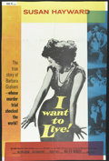"""Movie Posters:Drama, I Want To Live! (United Artists, 1958). One Sheet (24.5"""" X 37""""). Susan Hayward stars in this gripping drama about a woman fa..."""