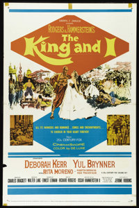 "The King and I (20th Century Fox, R-1962). One Sheet (27"" X 41""). Deborah Kerr, Yul Brynner and Rita Moreno st..."