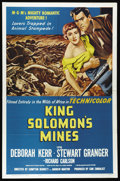 "Movie Posters:Adventure, King Solomon's Mines (MGM, R-1962). One Sheet (27"" X 41""). StewartGranger and Deborah Kerr star in this story of an adventu..."