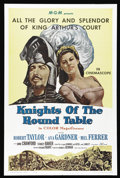 "Movie Posters:Adventure, Knights of the Round Table (MGM, R-1962). One Sheet (27"" X 41"").The first MGM film to be shot in CinemaScope was this retel..."