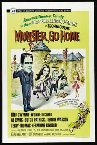 "Munster, Go Home (Universal, 1966). One Sheet (27"" X 41""). In the mid-sixties ""The Munsters"" was a h..."