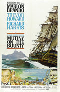 "Movie Posters:Adventure, Mutiny on the Bounty (MGM, 1962). One Sheet (27"" X 41""). MarlonBrando, Richard Harris and Trevor Howard star in the nautica..."