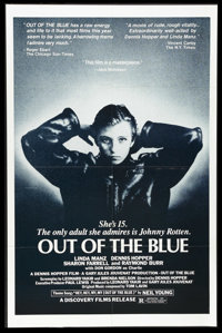 "Out of the Blue (Discovery Films, 1982). One Sheet (27"" X 41""). Dennis Hopper's film about mis-guided youth in..."