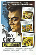"Movie Posters:War, The Outsider (Universal International, 1962). One Sheet (27"" X41""). Tony Curtis stars as Pima Indian Ira Hamilton Hayes, on..."