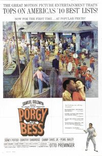 "Porgy and Bess (Columbia, 1959). One Sheet (27"" X 41""). George Gershwin's unforgettable music combine with out..."