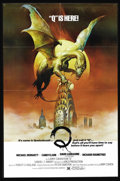 "Movie Posters:Horror, Q (United Film Distribution, 1982). One Sheet (27"" X 41""). Q is just your average giant winged serpent-like Aztec god. He's ..."