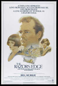 """The Razor's Edge (Columbia, 1984). One Sheet (27"""" X 41""""). """"The pathway to salvation is as narrow and as d..."""