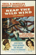 "Movie Posters:Adventure, Reap the Wild Wind (Paramount, R-1954). One Sheet (27"" X 41""). JohnWayne, Ray Milland, Paulette Goddard and Raymond Massey ..."