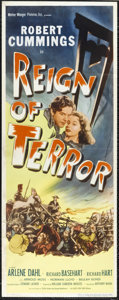 "Movie Posters:Adventure, Reign of Terror (Eagle Lion, 1949). Insert (14"" X 36""). RobertCummings, Richard Basehart and Richard Hart star in this cost..."
