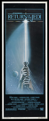 """Return of the Jedi (20th Century Fox, 1983). Insert (14"""" X 36""""). So, this was the third """"Star Wars""""..."""