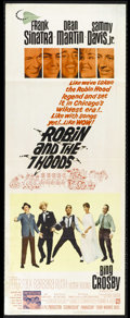"Movie Posters:Adventure, Robin and the Seven Hoods (Warner Brothers, 1964). Insert (14"" X36""). Frank Sinatra, Dean Martin, Sammy Davis Jr., Bing Cro..."