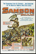 "Movie Posters:Adventure, Samson and Delilah (Paramount, R-1959). One Sheet (27"" X 41""). HedyLamarr, Angela Landsbury and Victor Mature star in the O..."