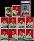 Baseball Cards:Lots, 1954 Red Heart Collection (11) With 1952 Bowman Musial and 1954Bowman Snider....