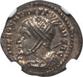Ancients:Roman Imperial, Ancients: Constantine I the Great (AD 307-337). Æ3 / BI nummus(3.39 gm). NGC Choice MS 5/5 - 5/5, silvering....
