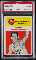 Basketball Cards:Singles (Pre-1970), 1961 Fleer Jerry West #43 PSA VG-EX 4....