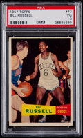 Basketball Cards:Singles (Pre-1970), 1957 Topps Bill Russell #77 PSA VG 3....