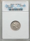 Three Cent Nickels, 1889 3CN -- Cleaned -- ANACS. MS60 Details. NGC Census: (0/163). PCGS Population: (1/220). CDN: $225 Whsle. Bid for problem...