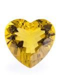 Gems:Faceted, Gemstone: Lemon Quartz - 154.4 Ct.. Brazil. 38.5 x 39.8 x 21 mm. ...