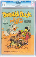 Golden Age (1938-1955):Cartoon Character, Four Color #9 Donald Duck (Dell, 1942) CGC FN- 5.5 Cream to off-white pages....